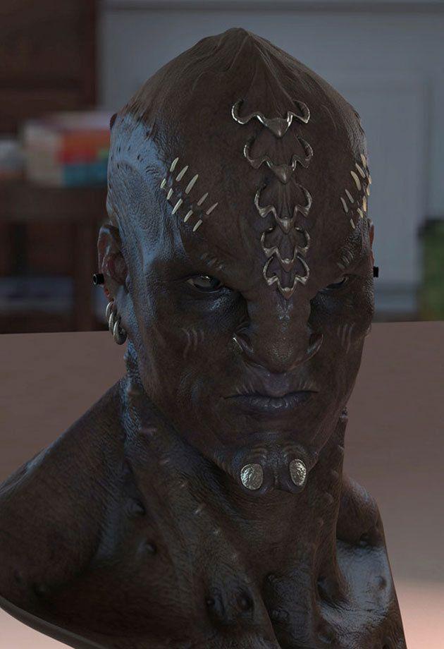 Rejected Klingon Design for 'Star Trek - Into Darkness' (Credit: Neville Page)