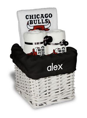 11 best chicago bulls baby gifts images on pinterest aprons our personalized chicago bulls small gift basket is a perfect basketball baby gift with 2 burp negle Choice Image