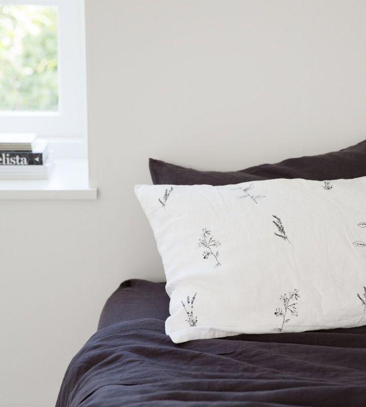 Father Rabbit   Linen Pillowcases   Botanical