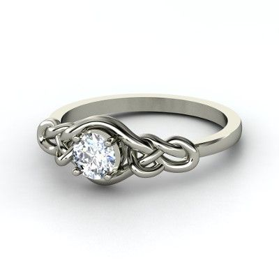 Sailor Knot Ring With Aquamarine
