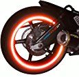 """Amazon.com: customTAYLOR33 (All Vehicles) Red High Intensity Grade Reflective Copyrighted Safety Rim Tapes (Must select your rim size), 17"""" (Rim Size for Most SportsBikes): Automotive"""