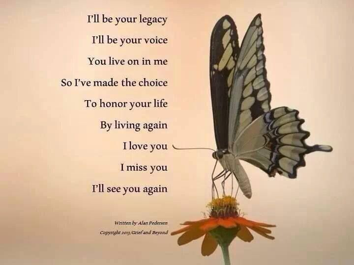 I'll be your legacy...still standing, standing still... 11/7/85 - 6/23/14