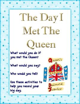 What would you do if you met the Queen? This pack of activities gives you all the help you need to plan interview questions, write a magazine article, thank you letter, diary entry, and even plan a story board for a film.