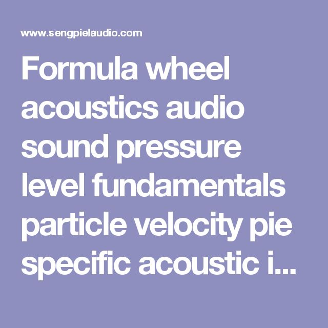 Formula wheel acoustics audio sound pressure level fundamentals particle velocity pie specific acoustic impedance Z audio engineering formulas calculation sound units Conversion of sound pressure to sound intensity acoustic impedance dB SPL calculations pascal calculations sound units sound recording formulas - sengpielaudio Sengpiel Berlin