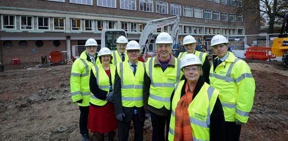 Ground-breaking moment as James Dyson Building comes to life | University of Cambridge