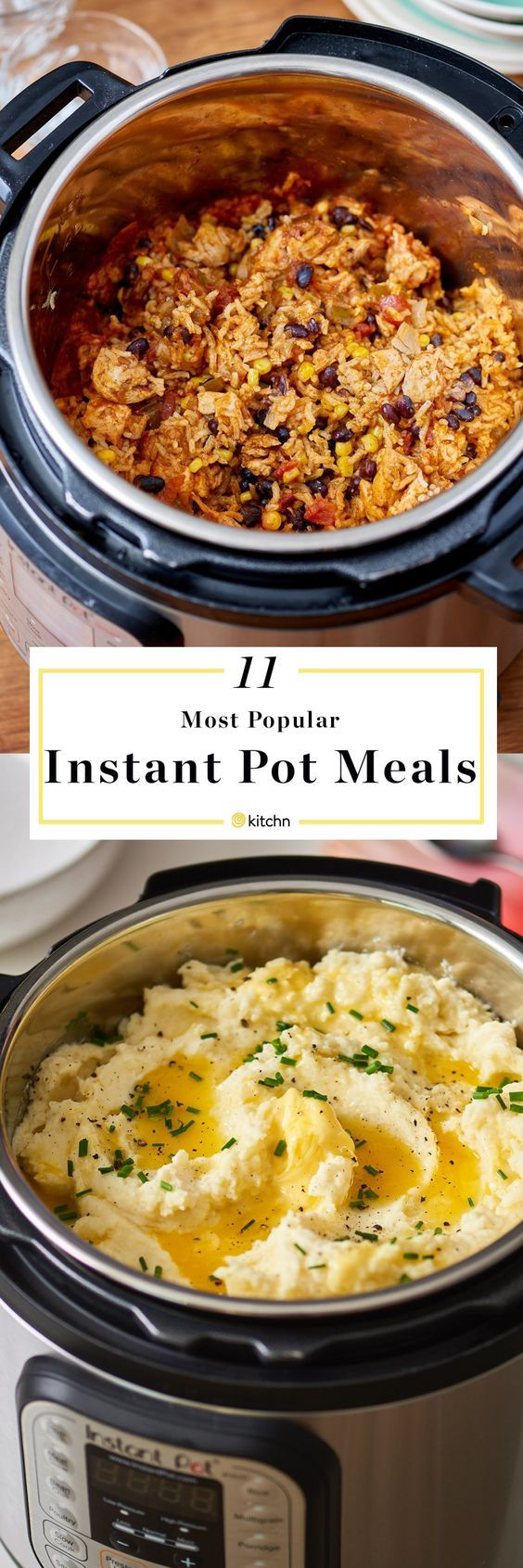 11 Most Popular Easy Instant Pot Pressure Cooker and Slow Cooker Meals, Dinners, and Recipes of 2017. Pressure cooking is a healthy fast way to get dinner on the table for your family! Easy recipes for everything from chicken burrito bowls to mashed potatoes. Great for holidays and weeknight meals.