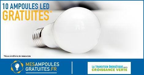 1 ménage sur 2 peut recevoir gratuitement 10 ampoules LED grâce à la Loi Transition Énergetique. Commandez en quelques clics votre pack…