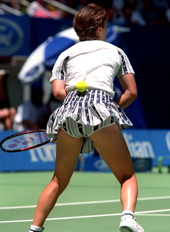 Martina hingis ass upskirt