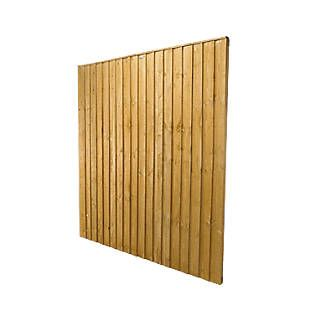 Order online at Screwfix.com. Dip-treated feather edge fence panels. With 50 x 30mm framing all around, 2 additional horizontal battens across the back and 50mm shaped capping strips. FREE next day delivery available, free collection in 5 minutes.