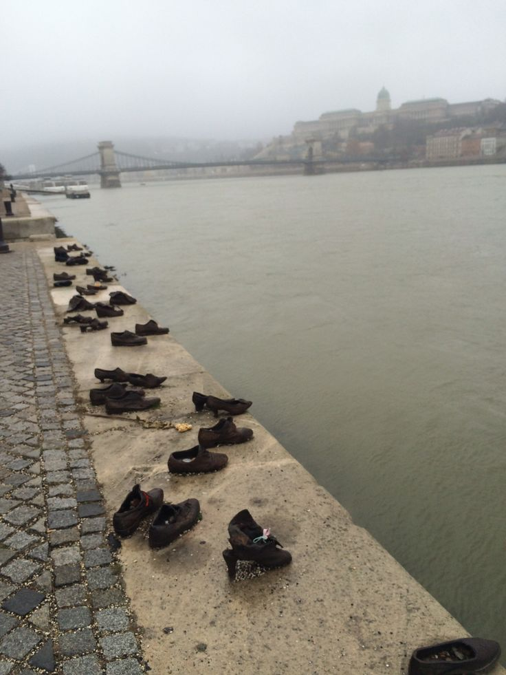 Shoes on the Danube river, Budapest, Hungary