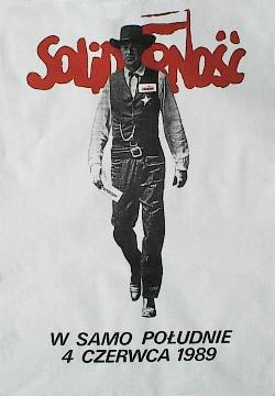 Designer: Tomasz Sarnecki. Year: 1989. Title: High Noon June 4, 1989.   Famous election poster for the first post- communist democratic elections.