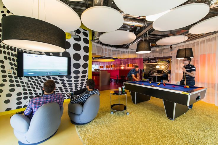 Google Campus Dublin | Google Docks - Communication Hub - Floor Identity: Have Fun #GoogleDublin, #Office, #Games, #Play, #Fun, #PoolBilliards