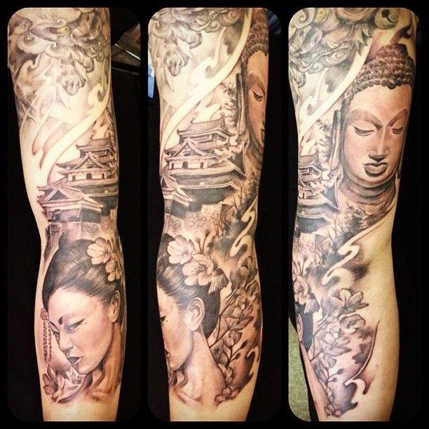 Mijn 1e tattoo liet ik zetten toen ik 18 was, inmiddels ben ik aan het sparen voor een Old Skool Sleeve. Het begin is pasgeleden gemaakt.
