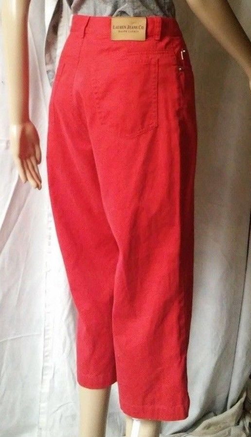 "RALPH LAUREN JEANS CO Womens Red Capri Style Jeans Sz 10 (Waist-31"" #twitter#tumbrl#instagram#avito#ebay#yandex#facebook #whatsapp#google#fashion#icq#skype#dailymail#avito.ru#nytimes #i_love_ny #cnn # BBCBreaking #  BBCWorld #  cnnbrk # nytimes # globaltimesnews #     Inseam-21"")  #RalphLaurenJeansCo #Capri"