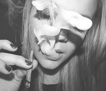 Inspiring picture black and white, blonde, funny, weed, smoke weed, drugs, fun, girl, teenager, smoke, young. Resolution: 500x375. Find the picture to your taste!