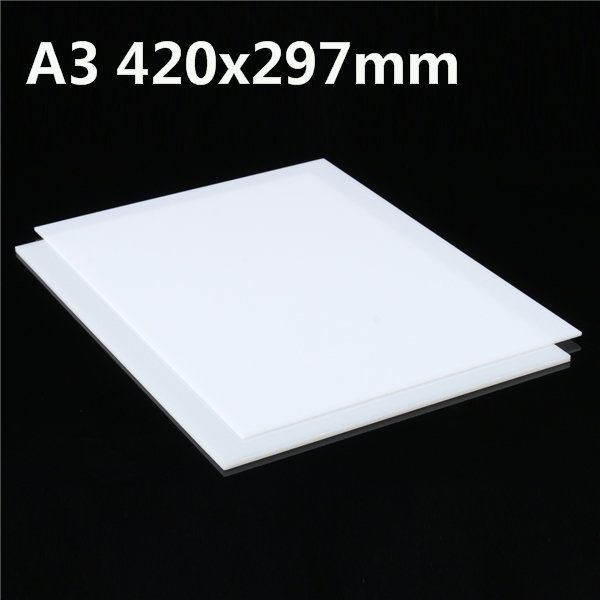 A3 420x297mm White Acrylic Perspex Sheet Cut to Size Panel Plastic Satin Gloss