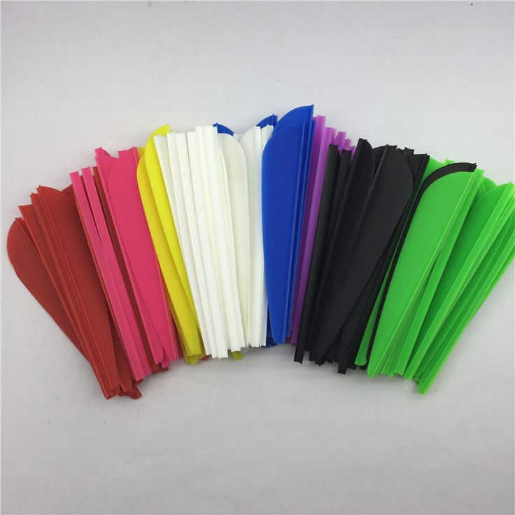 """100Pcs/lot 2.5"""" Right Wing Drop Shape Feathers Vanes Archery Accessories Fletch The Arrow Feather A2 Hunting"""