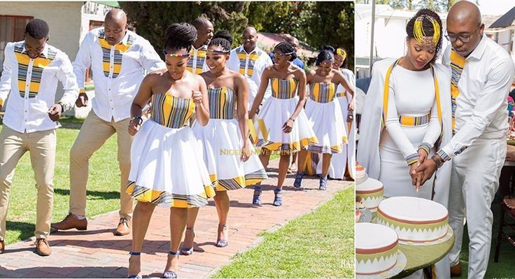 #TshepowedsRachel! South African Venda Bride, Rachel & Her Groom Tshepo Wore Venda Fabric Inspired Bridal Attires For Their Wedding - Nigeria: Nigerian Wedding's Blog