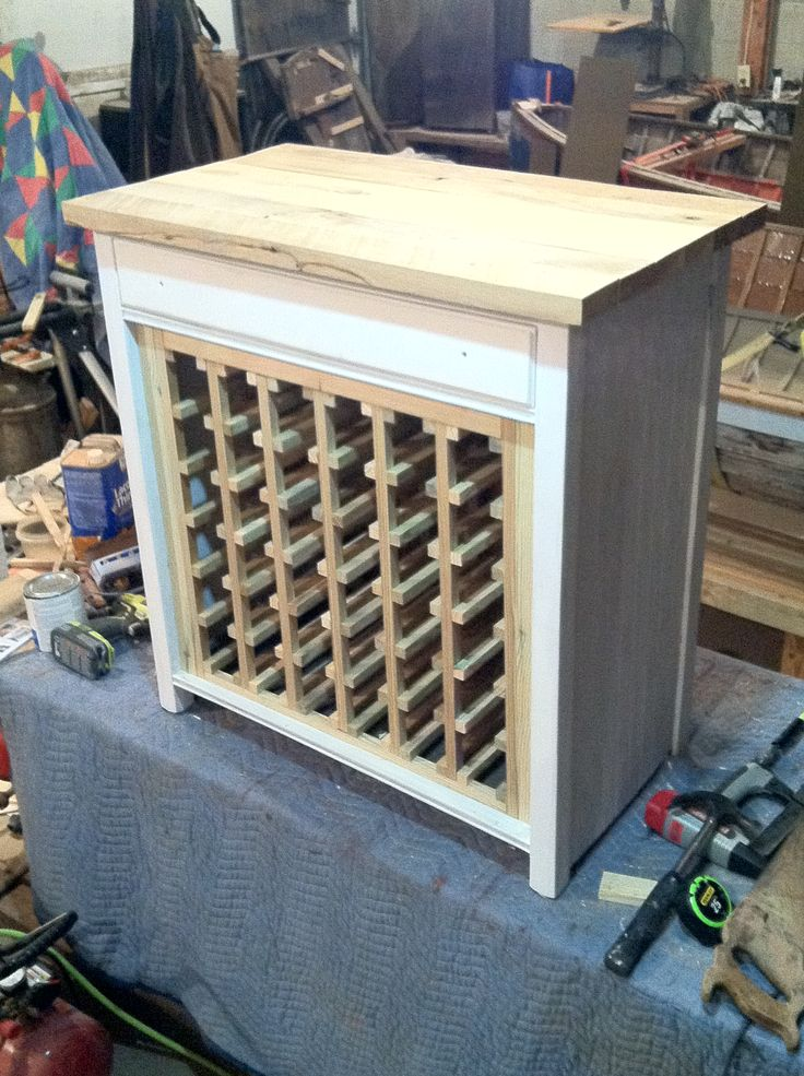 turn a cabinet into a wine rack woodworking projects plans