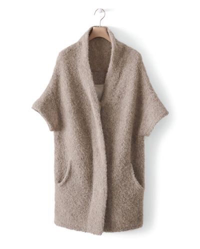 Image of Boucle Knitted Coat