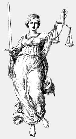 "Aviva Revolution notes that ""she's a lady"", comme toujours. Lady Justice: Icon"
