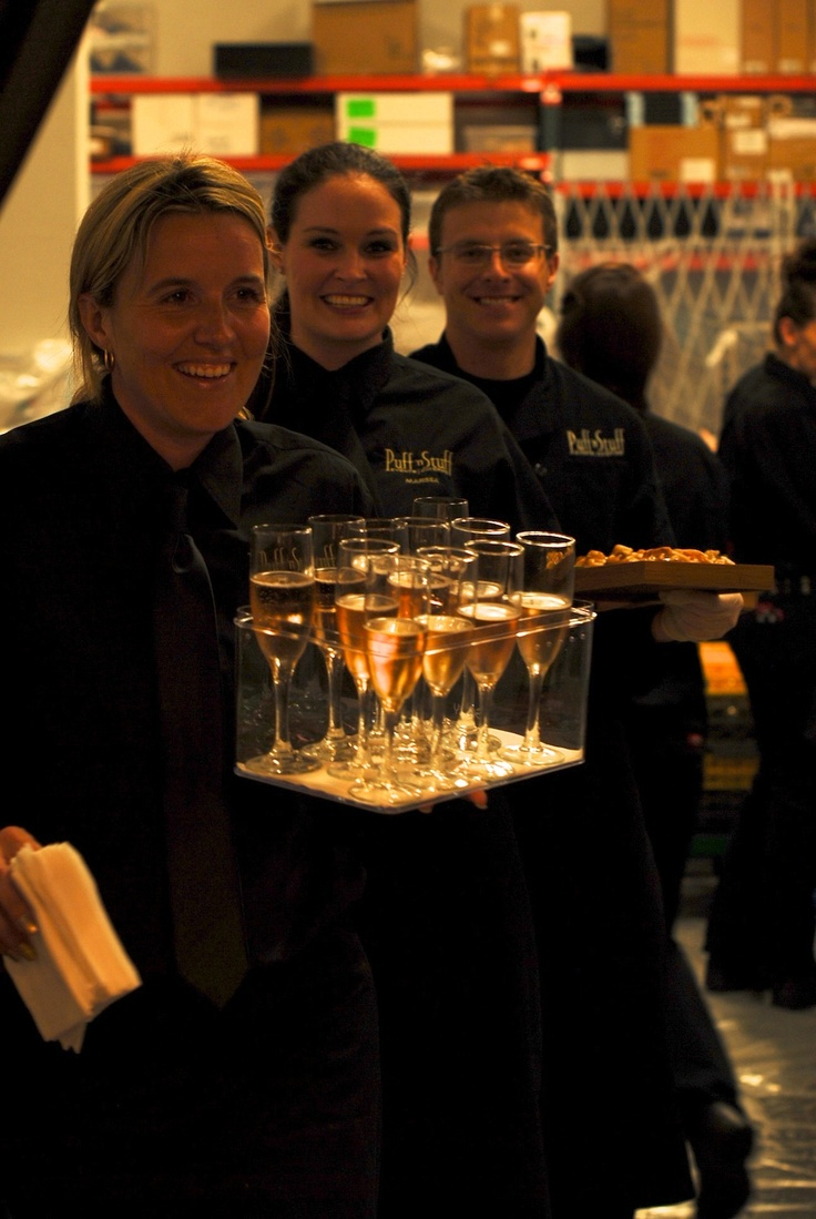 Look at those smiling faces! Our staff is the best!   Puff 'n Stuff Catering   Orlando + Tampa, FL
