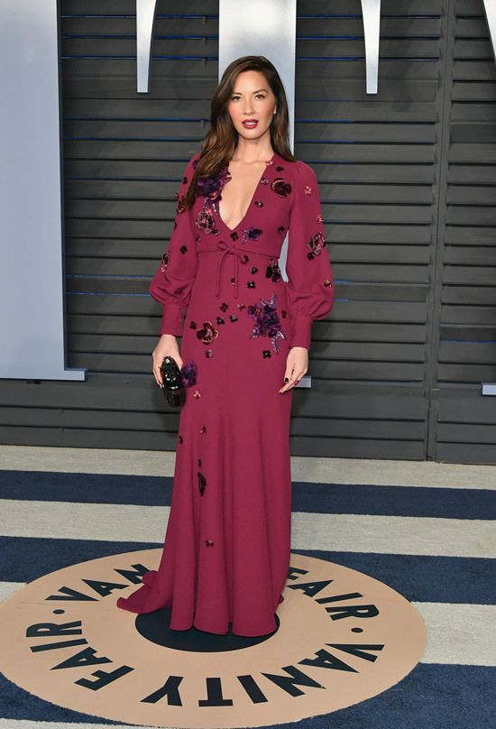 Olivia Munn in Andrew Gn at Oscars 2018: The Vanity Fair Party Red Carpet Rundown | Tom + Lorenzo