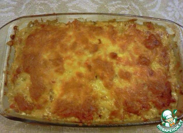Куриная печень с овощами и сыром ингредиенты