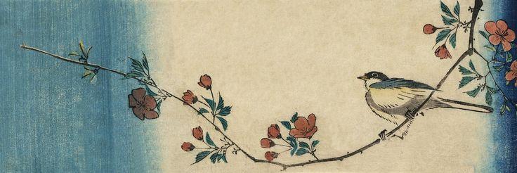 Vintage, Japansk, Kunst, Antik, Gamle, Akvarel, Print