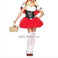 Sexy Adult Little Red Riding Hood Vestido del traje de Halloween