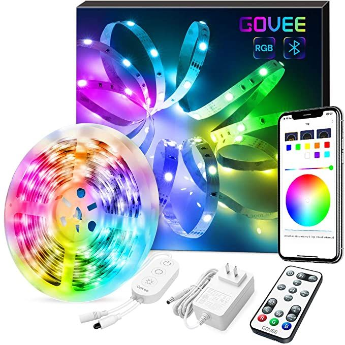 Amazon Com Led Strip Lights Govee Color Changing 16 4ft Bluetooth Lights Strip App Control Remo Led Strip Lighting Led Color Changing Lights Strip Lighting