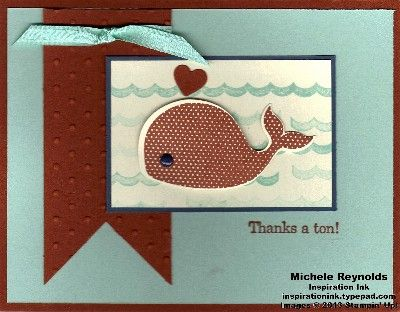 Oh, Whale! Cajun Craze Thanks by Michelerey - Cards and Paper Crafts at Splitcoaststampers