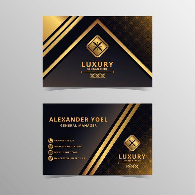 Plantilla De Tarjeta De Visita De Lujo V Free Vector Freepik Freevector Tarjeta Visi Luxury Business Cards Business Card Template Floral Business Cards