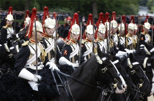 Eyes Right - Trooping of The Colour. Royal Household Cavalry. #horse #calvalry