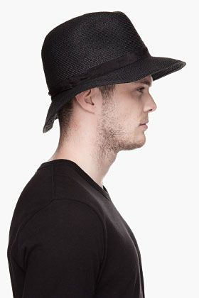 Undercover Black Woven Middle Finger Bucket Hat for men | SSENSE