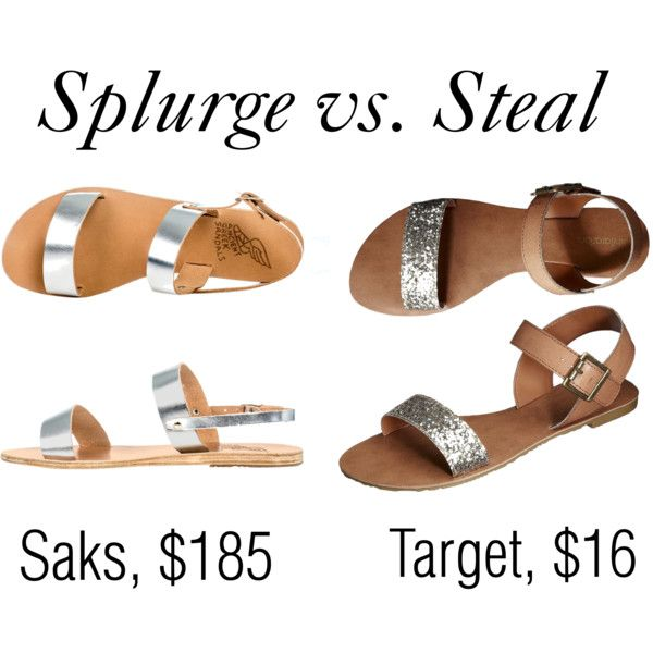 splurge vs. steal by ashpep, via Polyvore