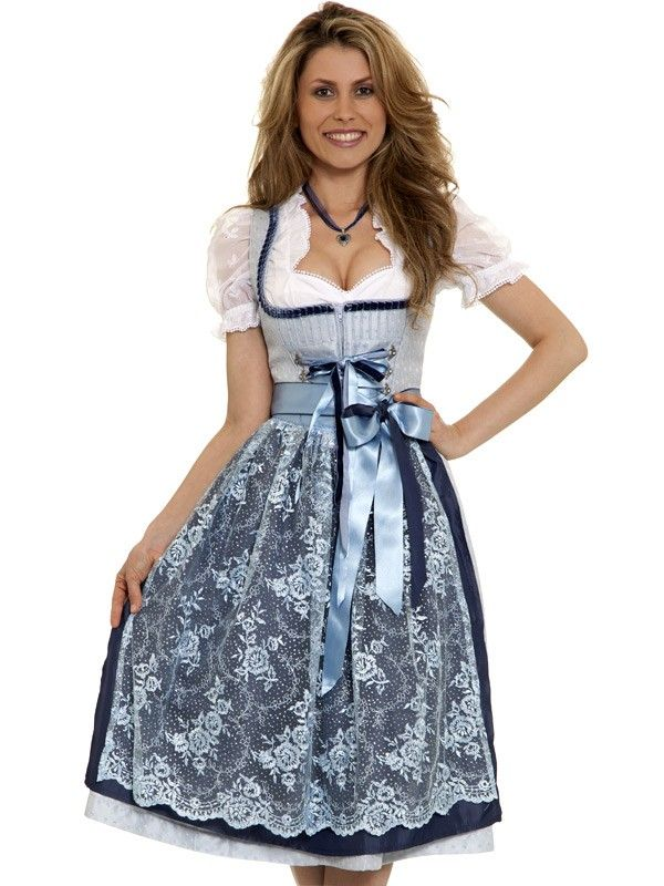 dirndl minou silber blau midi dirndl pinterest dirndl. Black Bedroom Furniture Sets. Home Design Ideas