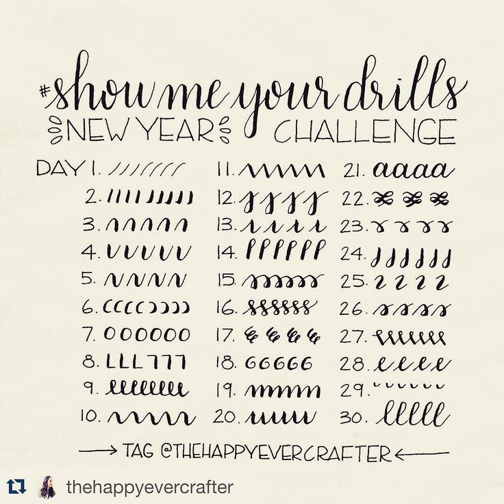 #Repost @thehappyevercrafter with @repostapp.  Hi everyone!  For the new year I am excited to announce that I am starting the #showmeyourdrills practice challenge! I myself need to practice these drills as much as anyone else and what better time than the beginning of a new year! At the same time I would love to share with all of you some short demo videos of each.  Here are all of the prompts to follow for the first 30 days- fill a line a page a book whatever you want! I have reserved the…