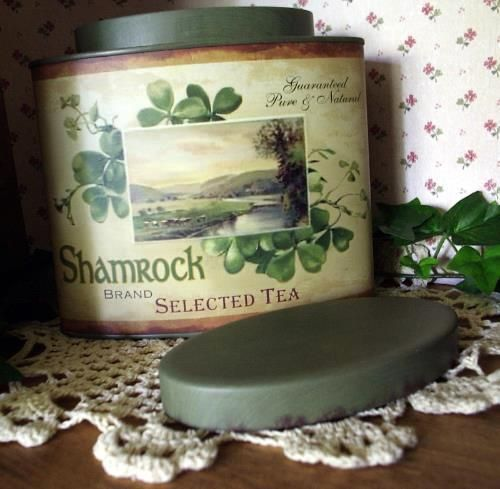 Vintage Style Irish Tea Tin Shamrock Brand Advertising