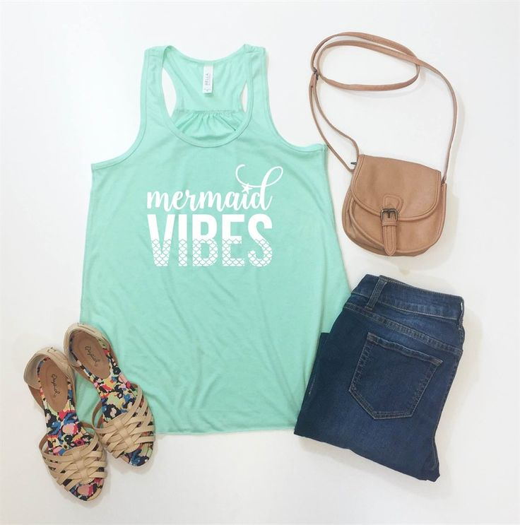Our new mermaid tees and tanks are perfect for Summer time!  They are super soft and easy to dress up or dress down!  Choose from over a dozen shirt colors to find your perfect tee!