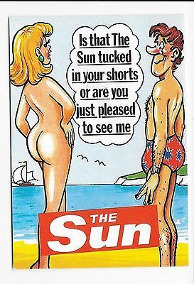 Postcard modern advert the sun newspaper #saucy #risque #seaside nude blonde ,  View more on the LINK: http://www.zeppy.io/product/gb/2/272548309409/