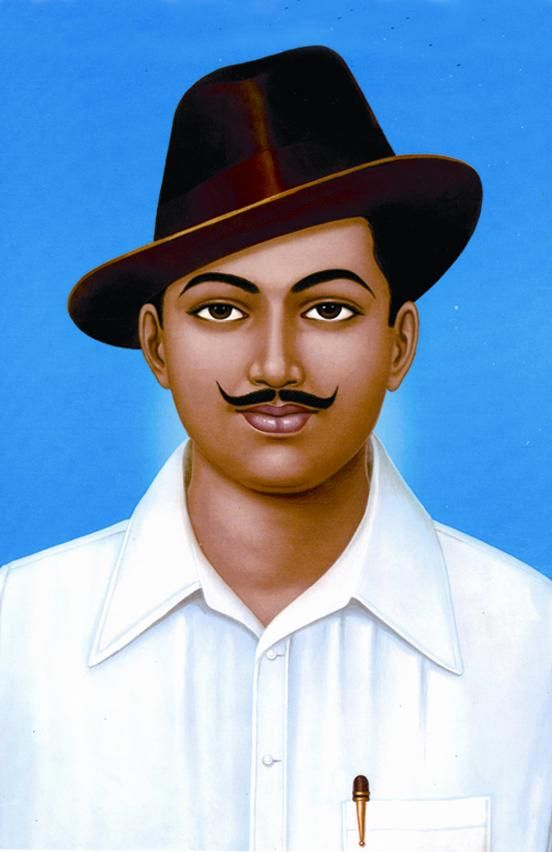 Illustration of Chandra Shekhar Azad