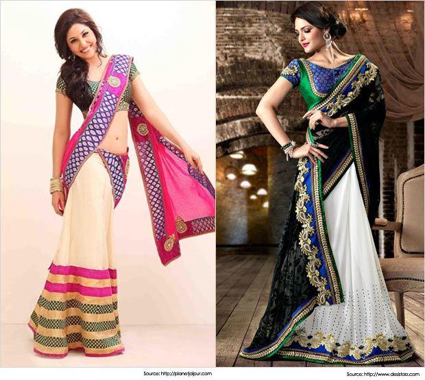 Best 28 Half Saree Designs for Weddings   Latest Half Sarees