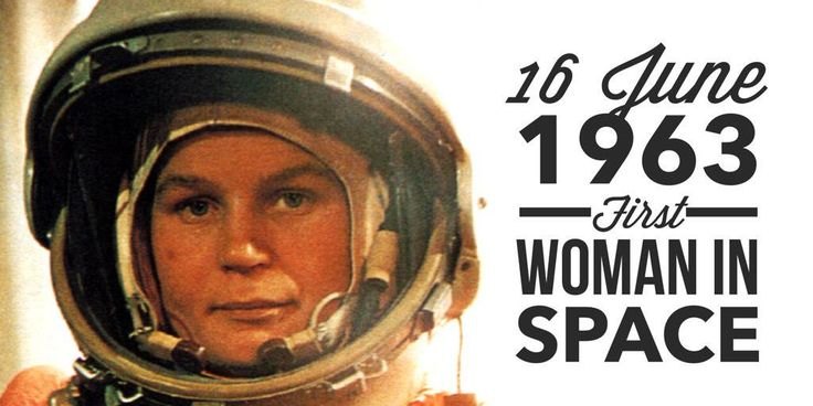 16 June 1963. Cosmonaut Valentina Tereshkova becomes the first woman in space
