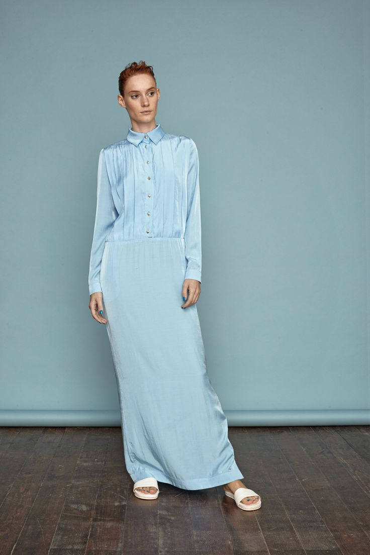 Light blue maxi dress. #doritomcsanyi #ss15 #lookbook #collection #lightblue