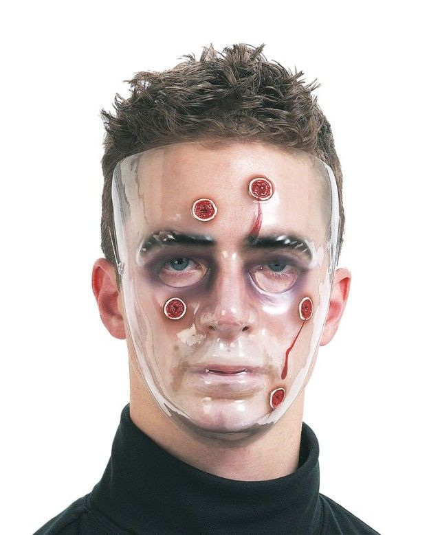 Let's Party With Balloons - Dr Tom's Bullet Holes Face Clear Masks, $5.00 (http://www.letspartywithballoons.com.au/dr-toms-bullet-holes-face-clear-masks/)