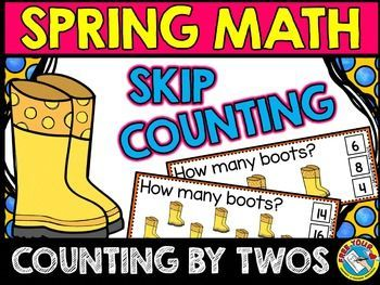 #SPRING #SKIP #COUNTING #TASK #CARDS: #COUNTING #BY #TWOS #CLIP #CARDS