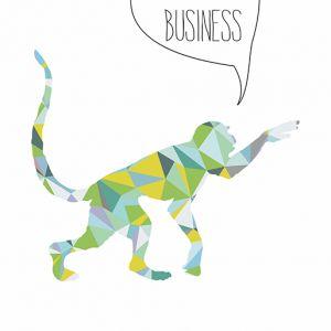 Plakat Triangle Animals - monkey business NUNU BABA