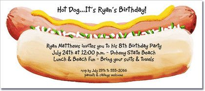 Hot+Dogs+are+the+best+for+any+party!+The+Hot+Dog+Party+Invitation...