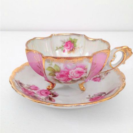 A beautiful Teacup and Saucer- maker unknown